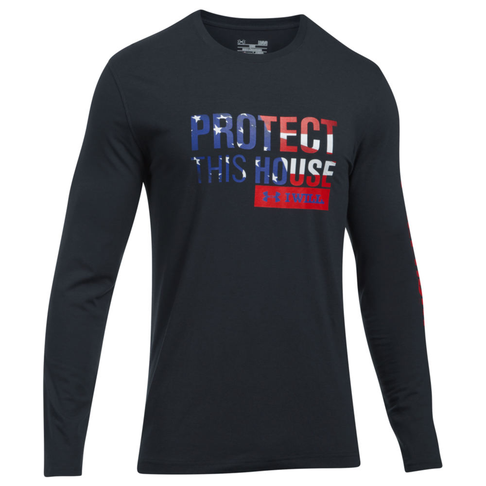 Under Armour Men's Freedom Protect This House LS Tee Black Knit Tops M 712362BLKM