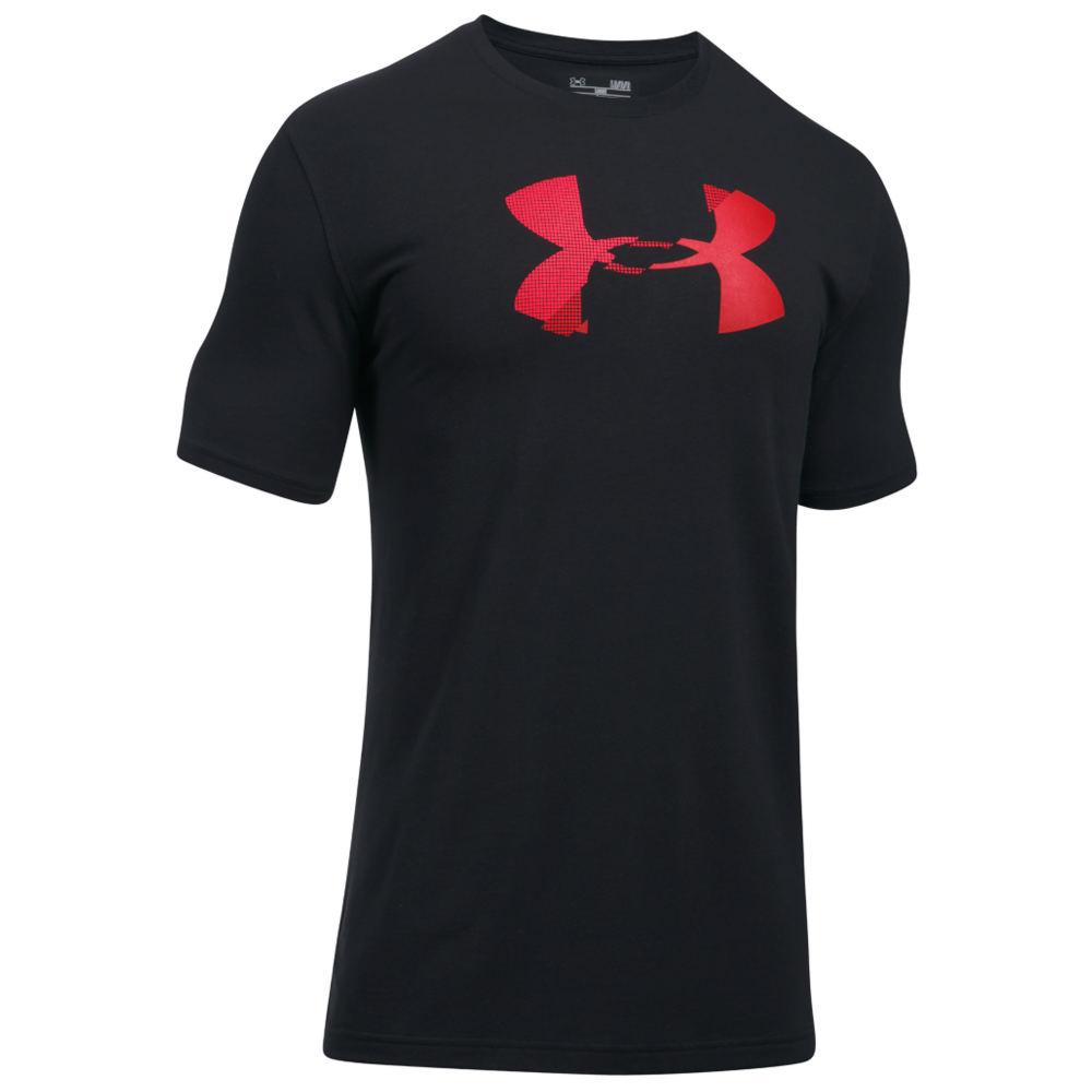 Under Armour Men's Glitch Logo SS Tee Black Knit Tops XXL 712370BLK2XL