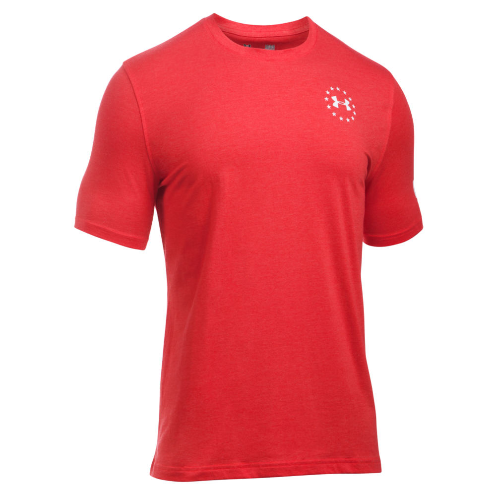 Under Armour Men's Freedom Flag SS Tee Red Knit Tops M 712358REDM