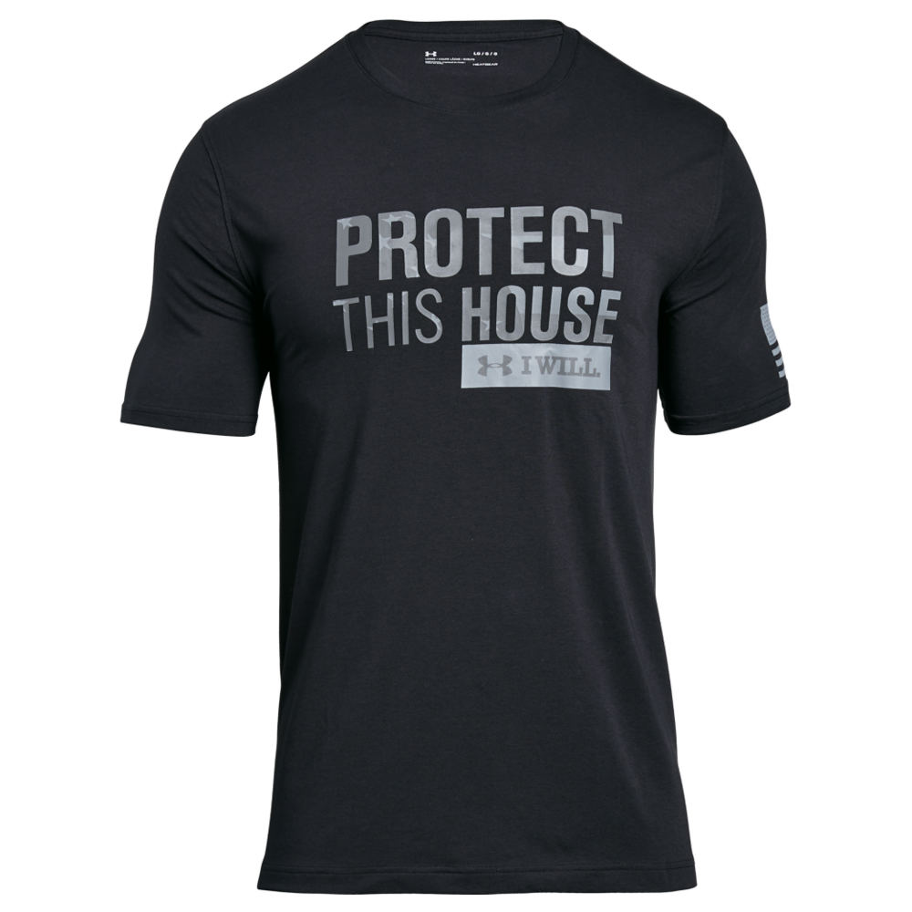 Under Armour Men's Freedom Protect This House SS Tee Black Knit Tops M 712366BKTM