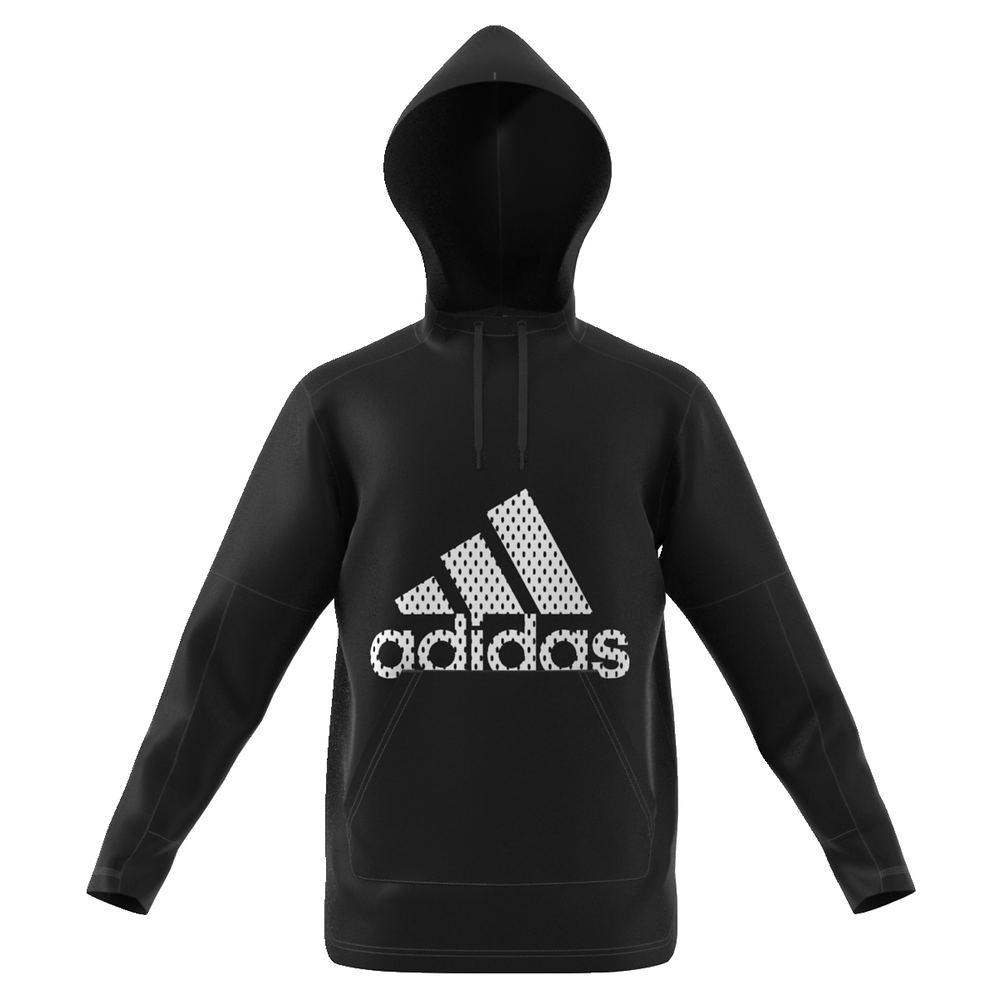 adidas Men's BTS Fleece Pullover Hoodie Black Knit Tops XXL 712440BLK2XL