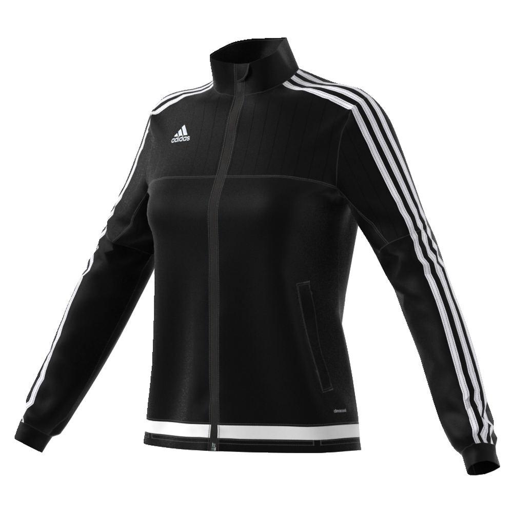 adidas Women's Tiro 15 Training Jacket Black Jackets L 712420BLKL