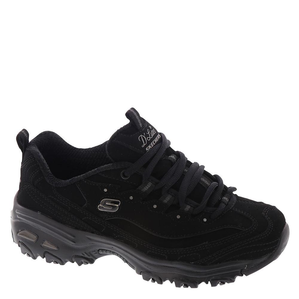 Skechers Sport D'Lites Play On Women's Black Sneaker 11 W