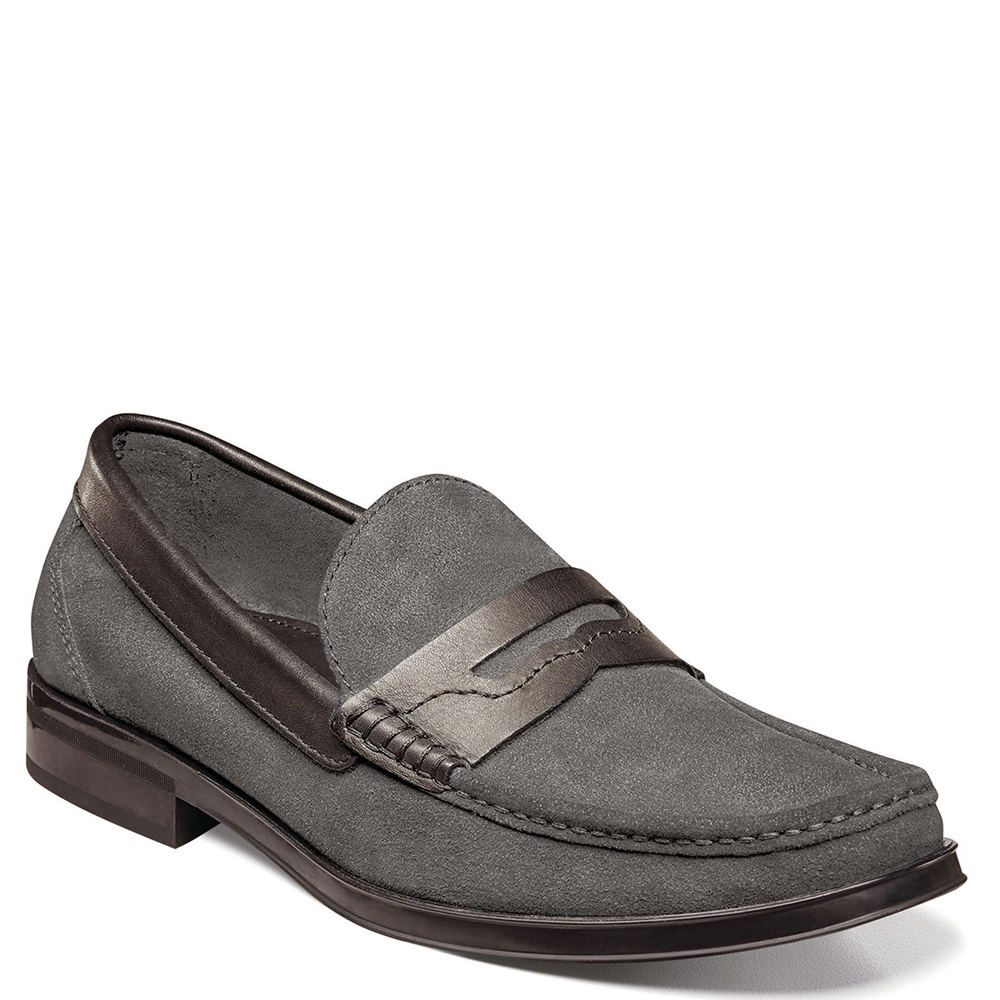 Florsheim Westbrooke Penny Loafer Men's Grey Oxford 10.5 D