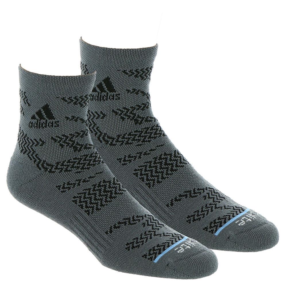 adidas Men's tiger Style 2-PK High Quarter Socks Black Socks One Size 649863ONX
