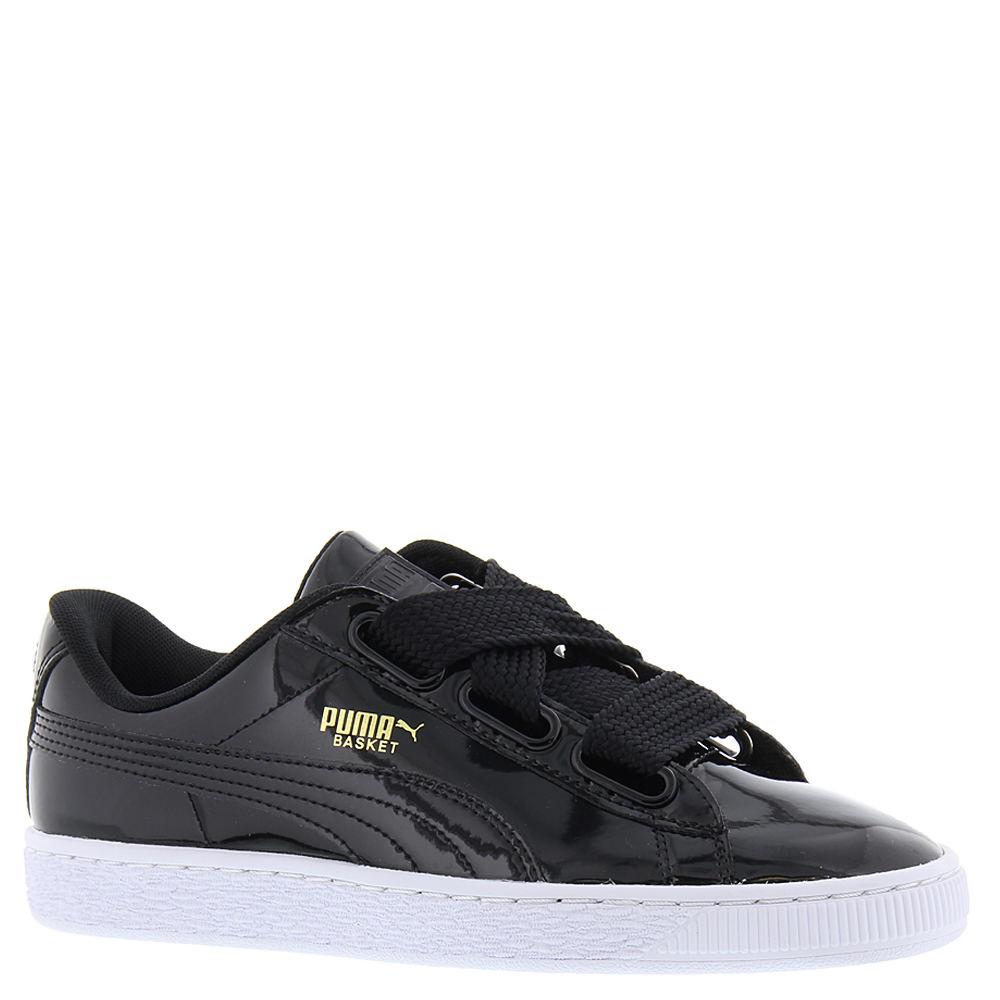 Puma Basket Heart Patent Women's Black Sneaker 9 M