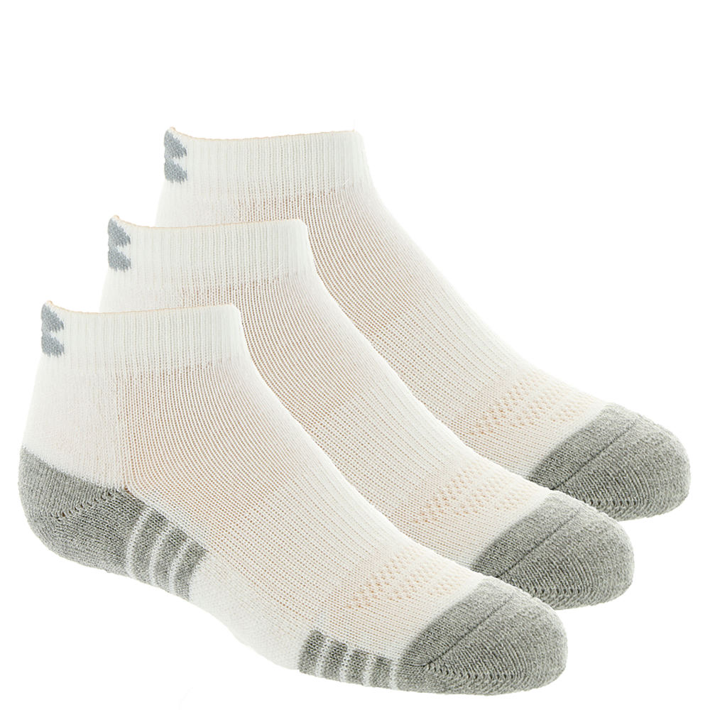 Under Armour Boys' 3-Pack Heatgear Tech Lo Cut Socks White Socks L 824377WHTLRG
