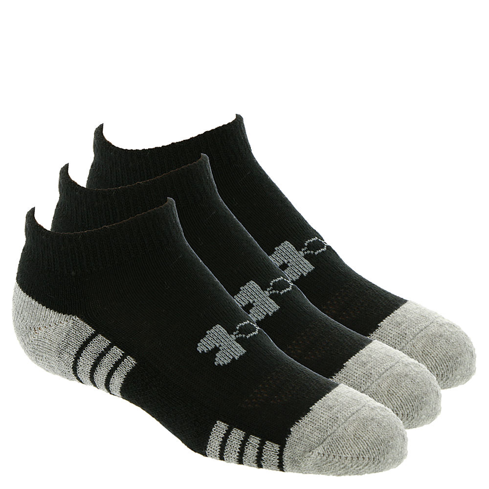 Under Armour Boys' 3-Pack Heatgear Tech No Show Socks Black Socks L 824378BLKLRG