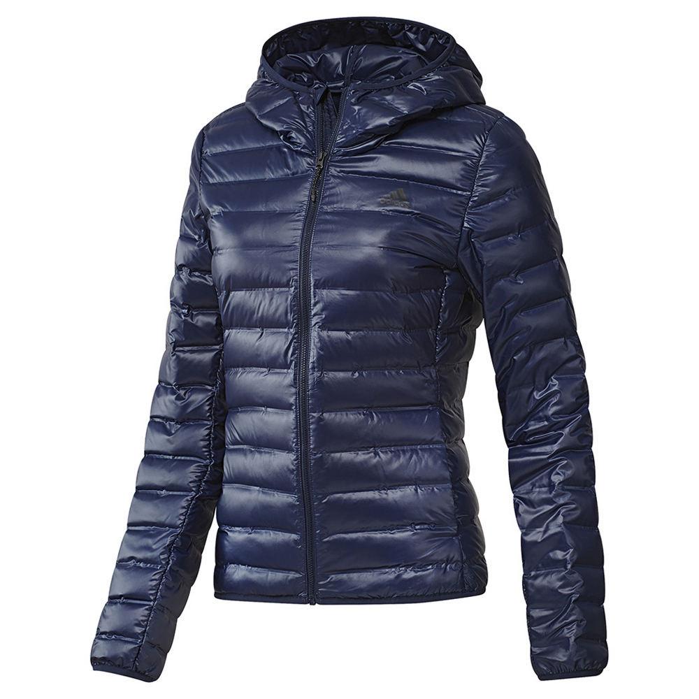 Adidas Women's Varilite Hooded Jacket Blue Coats M