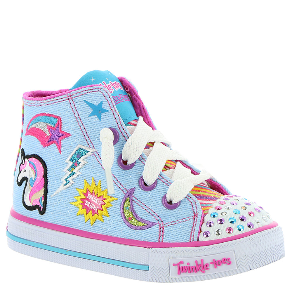 Skechers Twinkle Toes: Shuffles-10776N Girls' Infant-Todd...