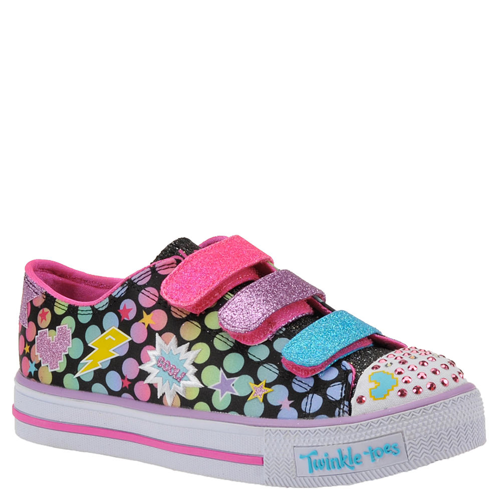 Skechers Twinkle Toes Shuffles 10835L Girls' Toddler-Yout...