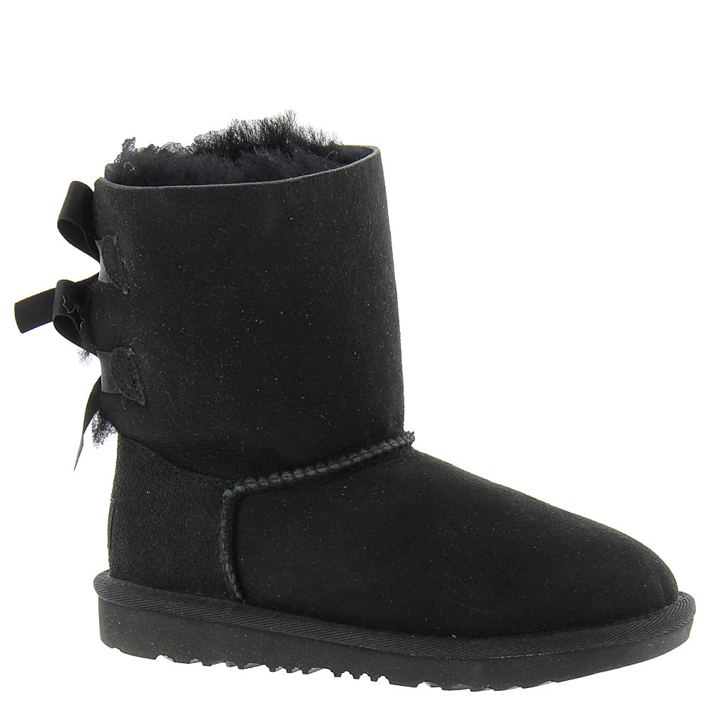 UGG Bailey Bow II Girls' Toddler-Youth Black Boot 2 Youth M