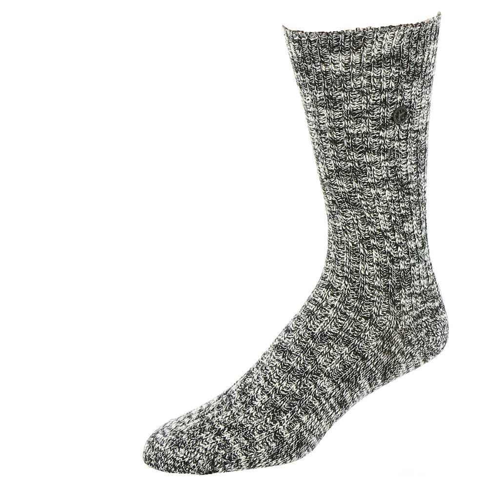 Birkenstock Men's Cotton Slub Socks Black Socks L 650510BLKLRG