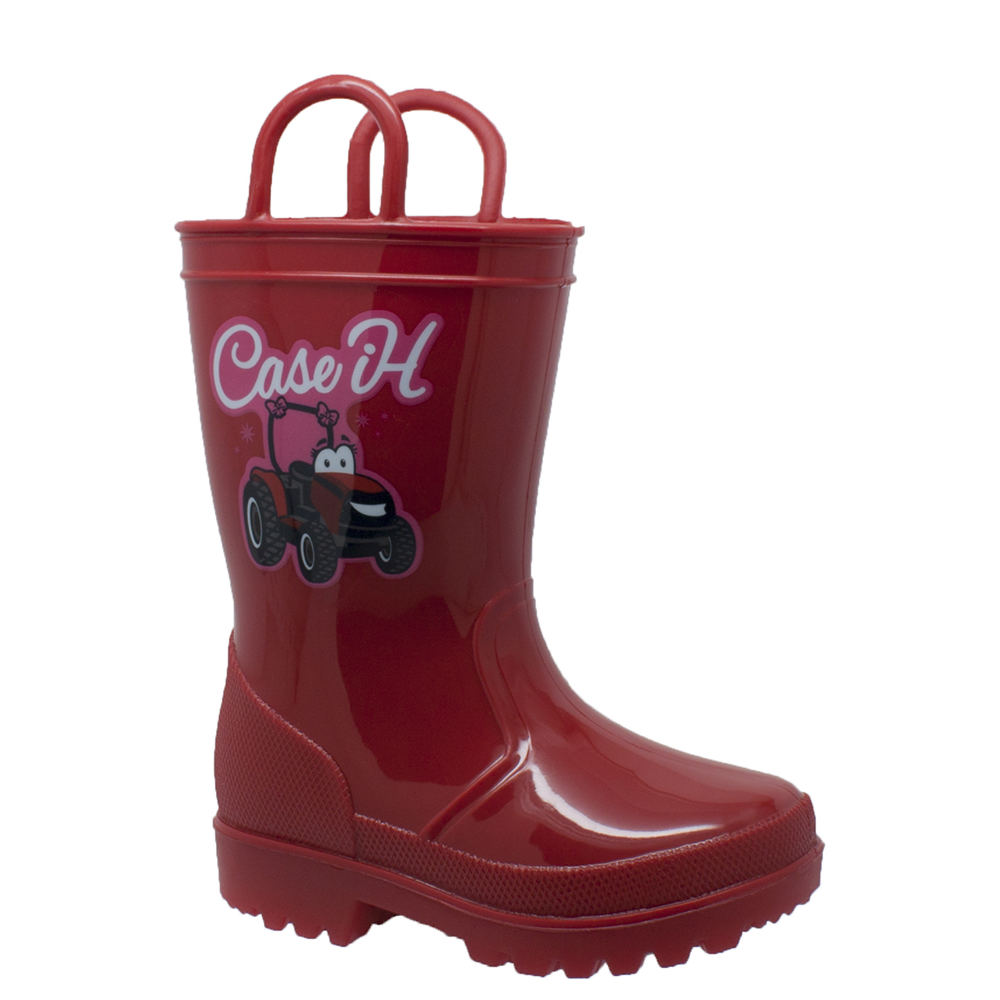 Case IH PVC Boot Light-Up Kids Toddler-Youth Red Boot 8 T...