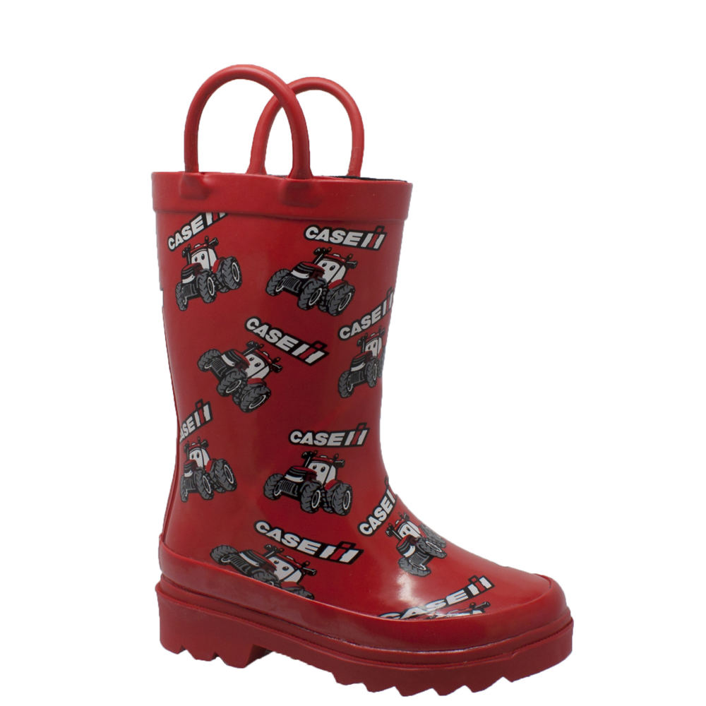 "Case IH ""Big Red"" Rubber Boot Kids Toddler-Youth Red Boot..."