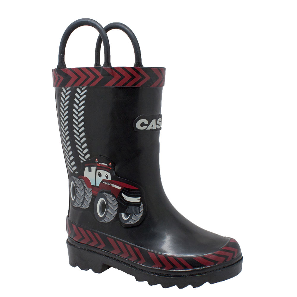 "Case IH 3D ""Big Red"" Rubber Boot Kids Toddler-Youth Black..."