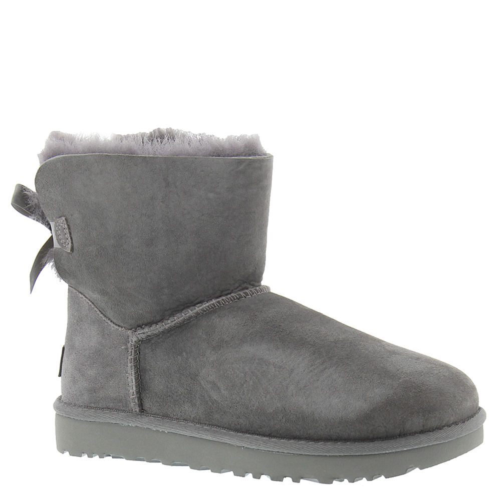 UGG Mini Bailey Bow II Women's Grey Boot 8 M
