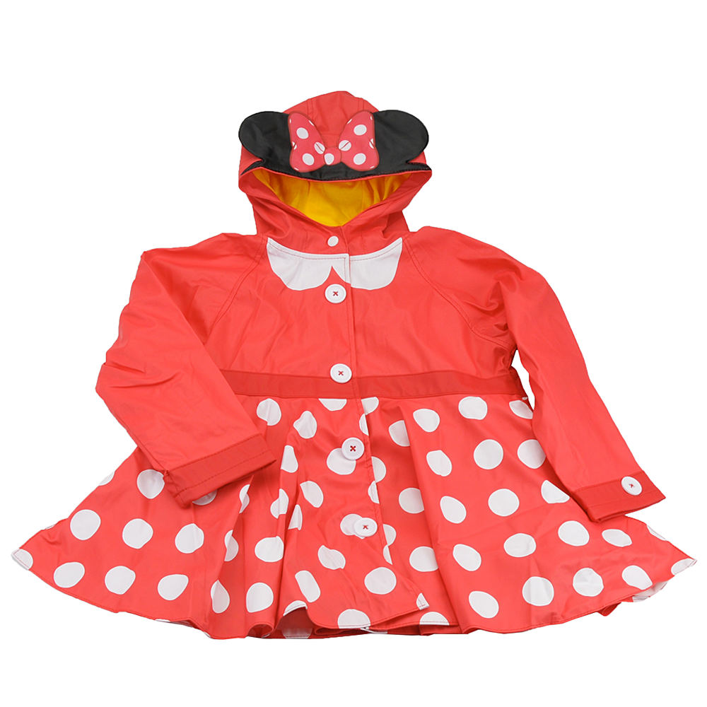 Western Chief Girls' Minnie Mouse Rain Coat Red Coats 4T