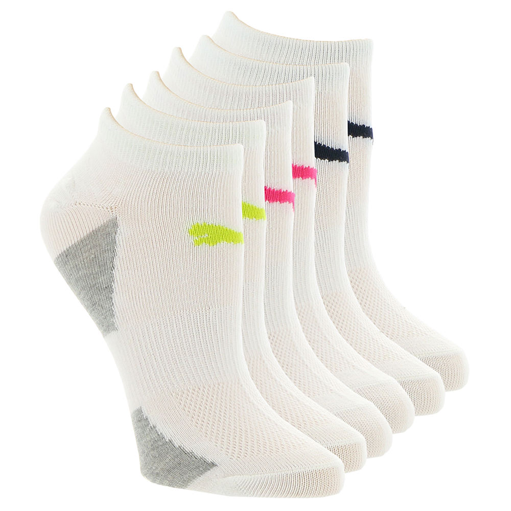 PUMA Women's P107107 Low Cut 6 Pack White Socks One Size 545728WHT