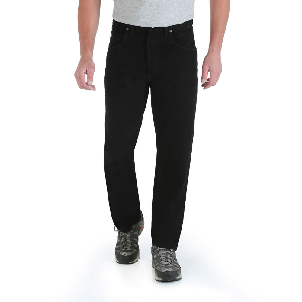 Wrangler Relaxed Fit Jeans Black Pants 34-34