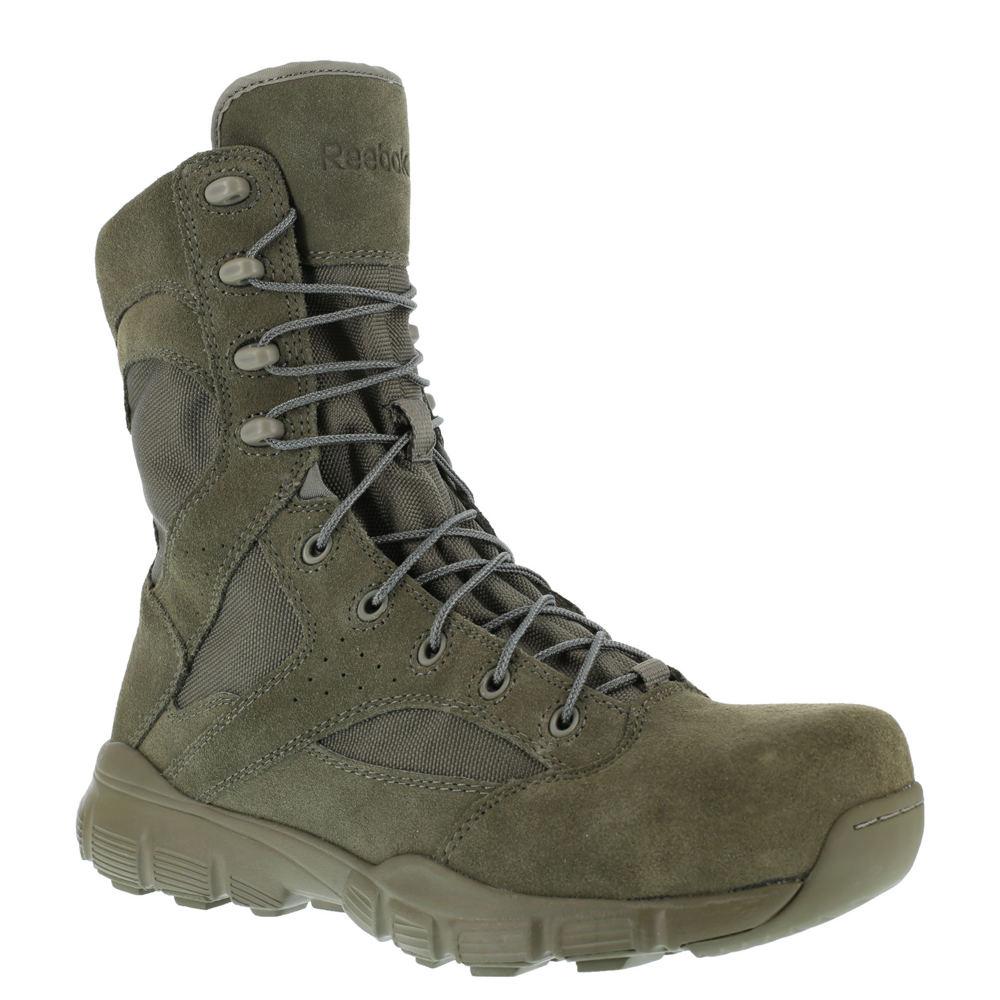 "Reebok Work Dauntless 8"" Comp Toe Men's Green Boot 7.5 M"