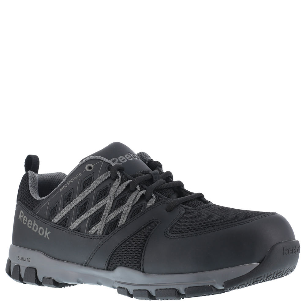 Reebok Work Sublite Work Men's Black Oxford 13 M 650879BLK130M