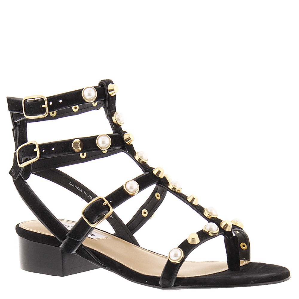 Steve Madden Crowne Women's Black Sandal 8.5 M