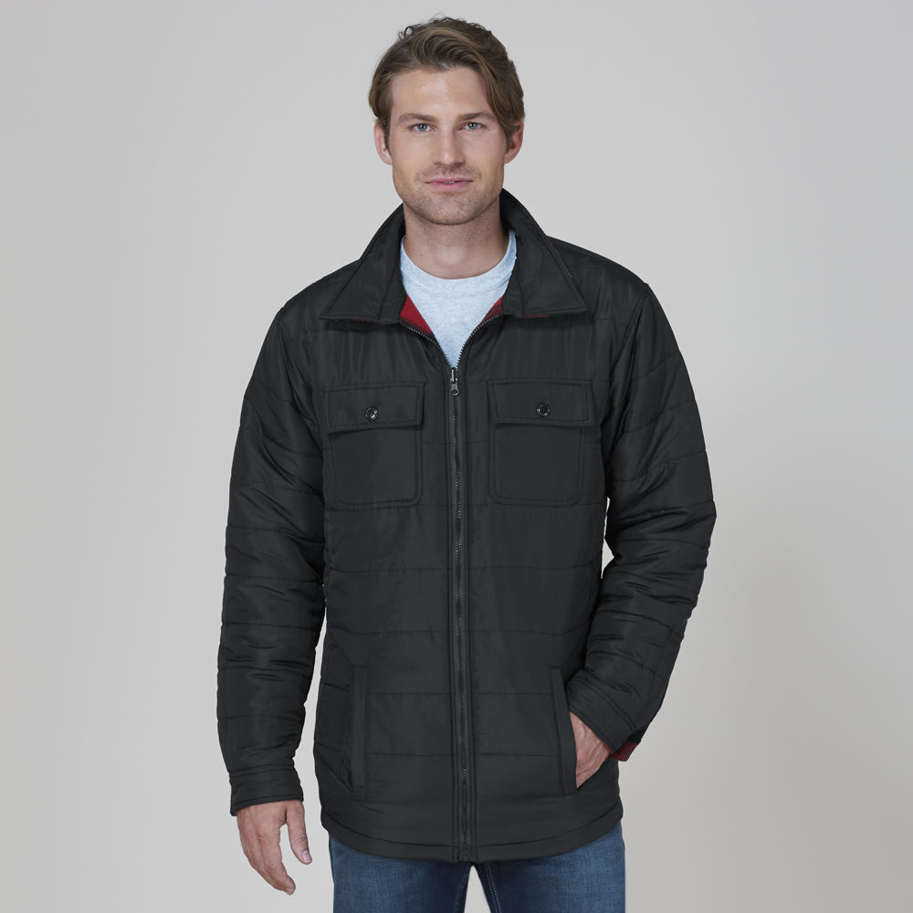 OTHER Men's Reversible Plaid Jacket Black Coats XXL