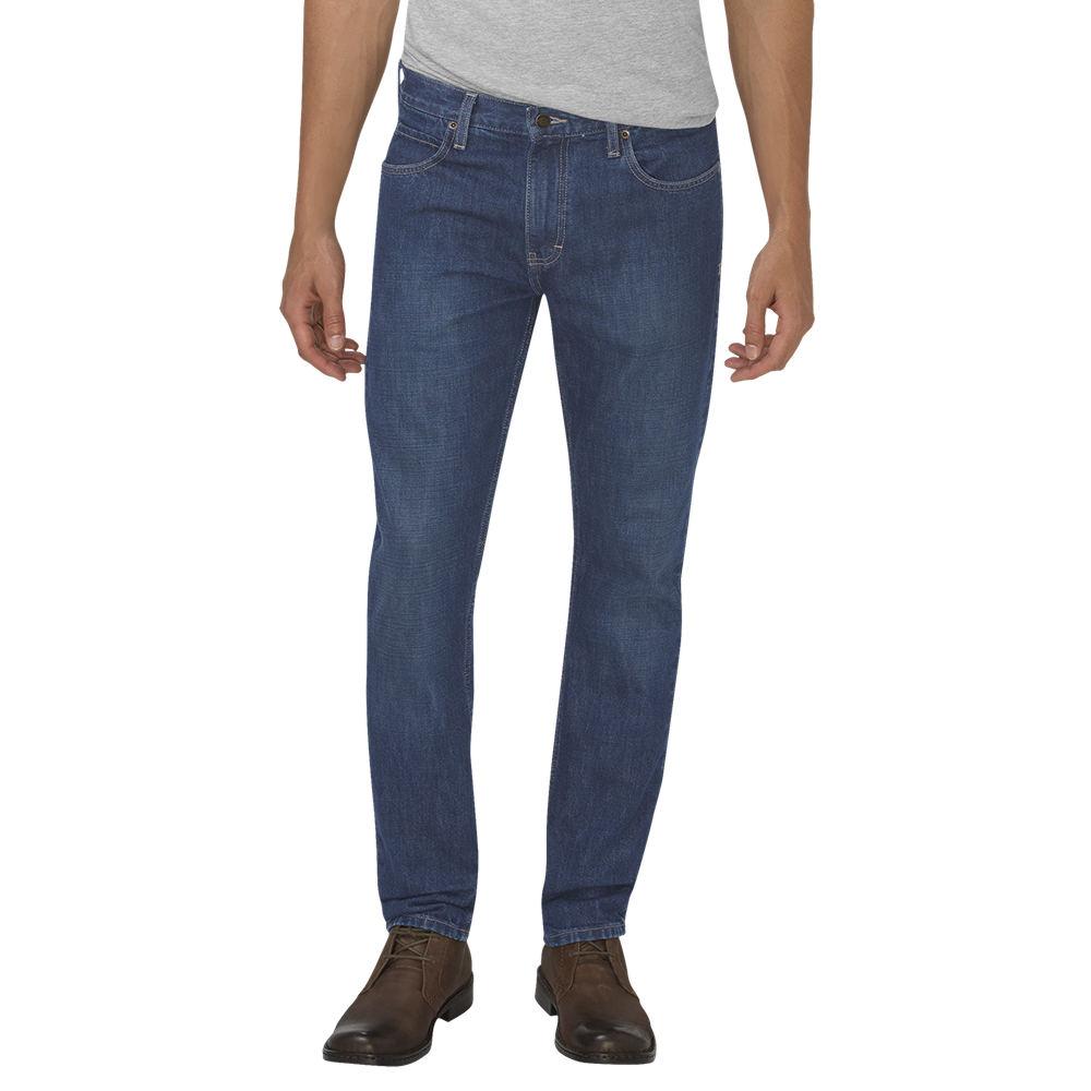 Dickies Men's Slim Taper 5-Pocket Jean Blue Pants 38-32 713040HMI38032