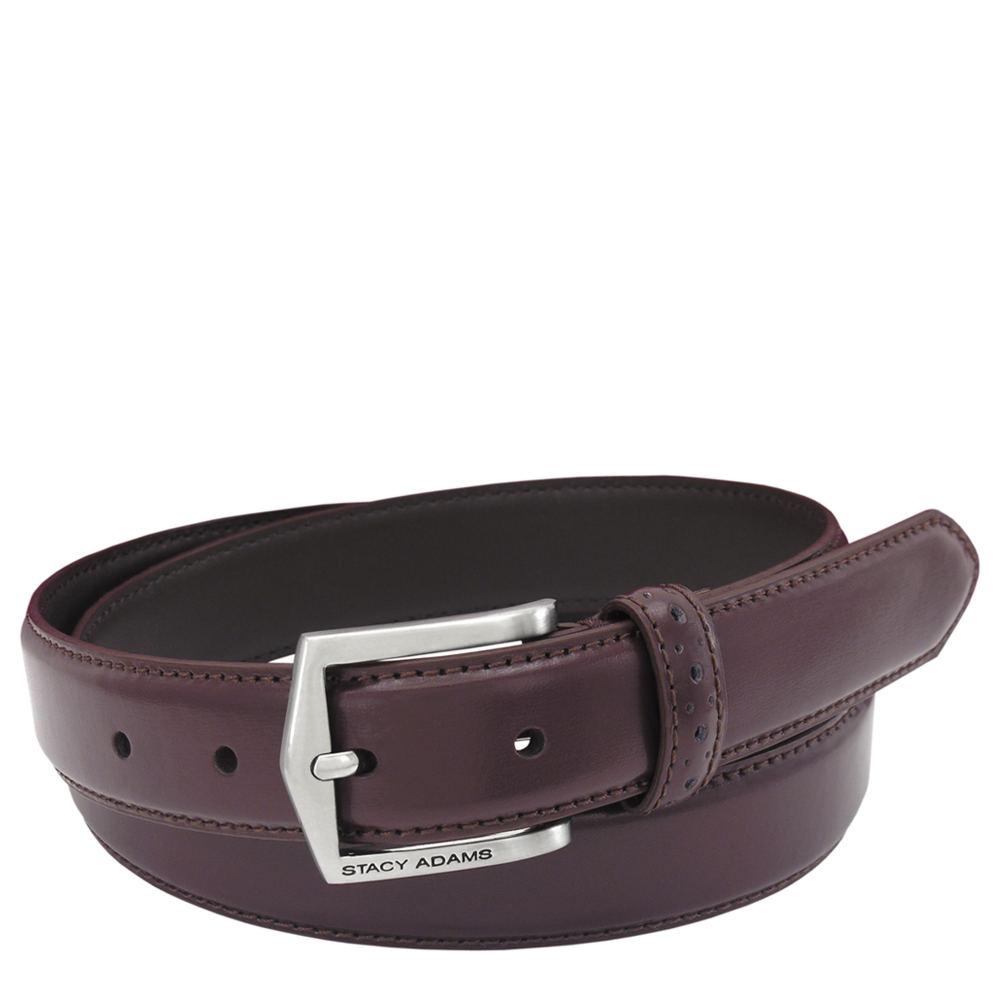 Stacy Adams Pinseal Belt 30mm Burgundy Misc Accessories 38