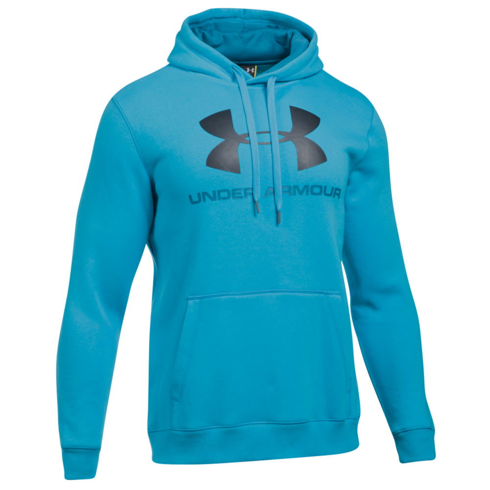 Under Armour Men's Rival Fitted Graphic Hoodie Blue Jackets L 713042BLUL