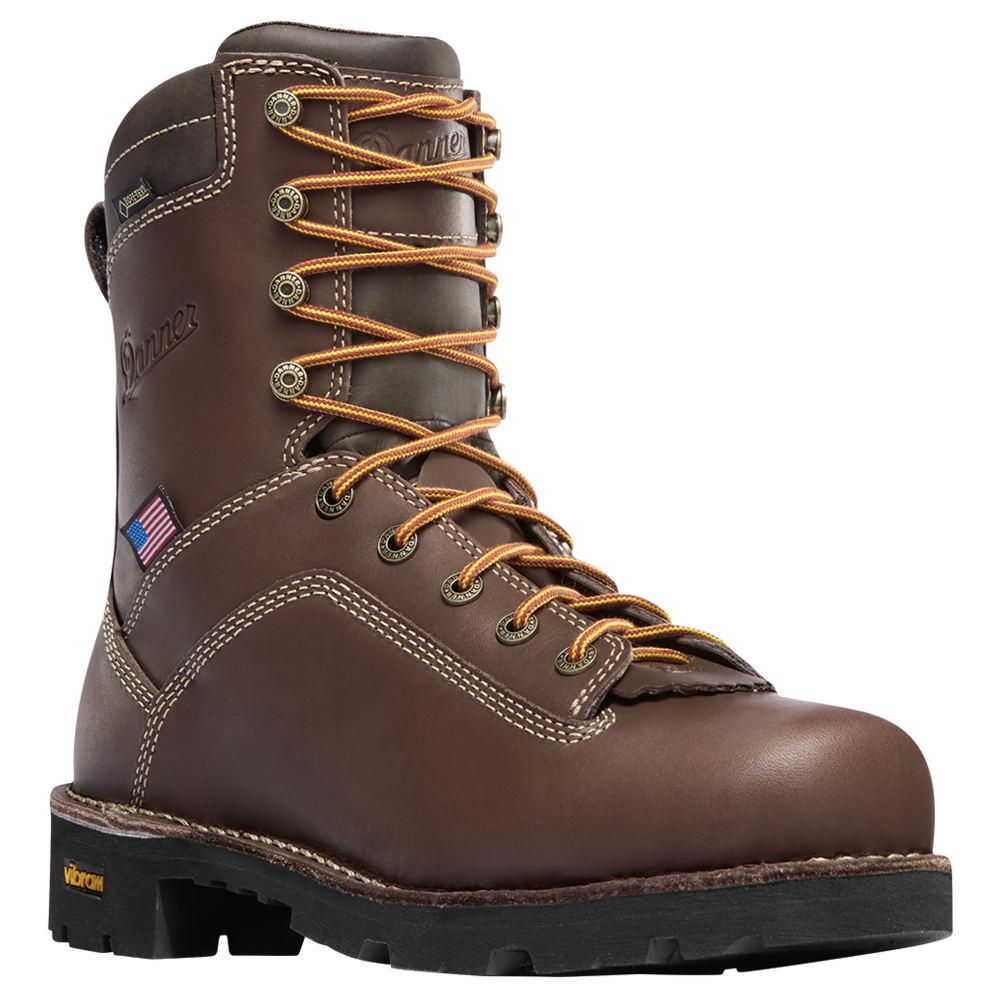 """Danner Quarry USA 8"""" AT Men's Brown Boot 10 D"""