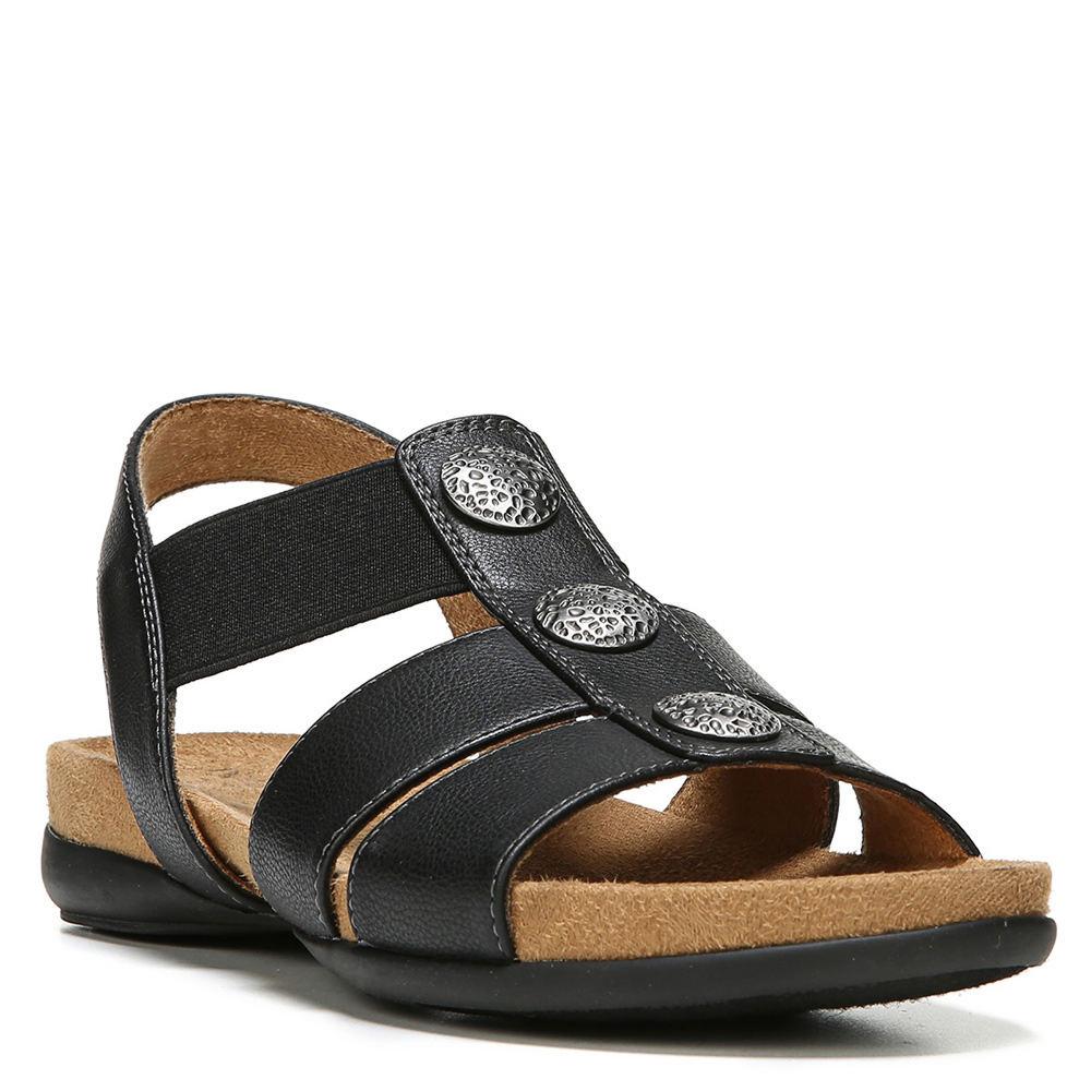 Natural Soul Amelia Women's Black Sandal 5.5 M 547929BLK055M