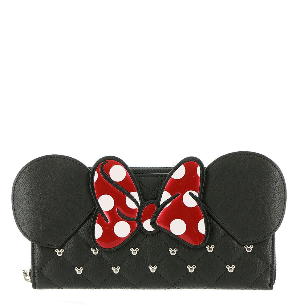 Loungefly Minnie Bow Zip Around Wallet Black Misc Accesso...