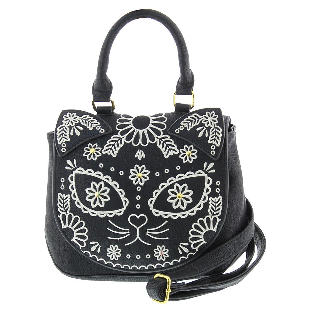 Loungefly Sugar Skull Cat Crossbody Bag Black Bags No Size