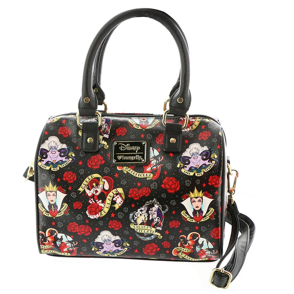 Loungefly Disney Villains Roses Tattoo Crossbody Bag Blac...