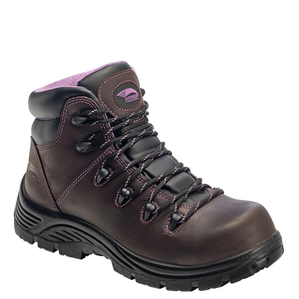 Avenger CT Puncture Resist Hiker Women's Brown Boot 7.5 B