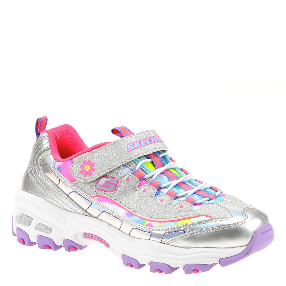 Skechers D'Lites 80528L Girls' Toddler-Youth Silver Sneak...