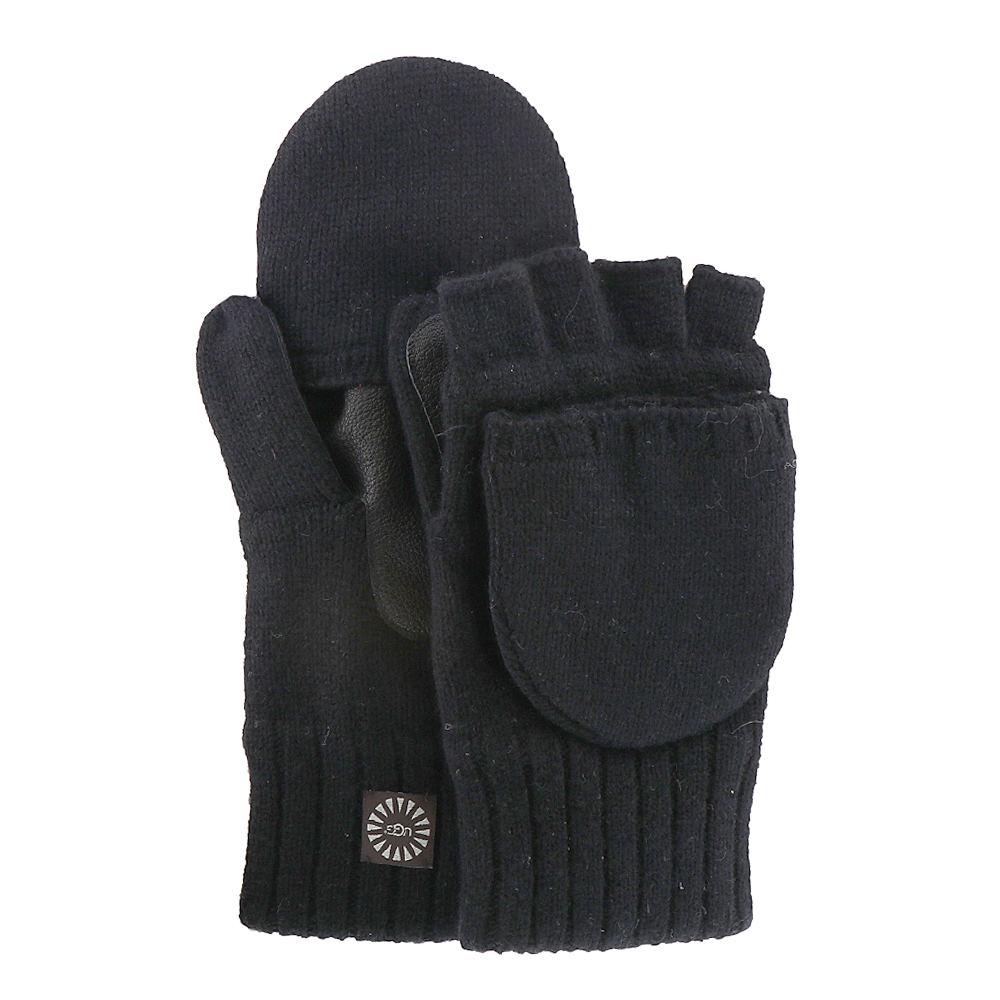 UGG Men's Classic Knit Flip Mitten Black Misc Accessories L/X 651916BLKL/X
