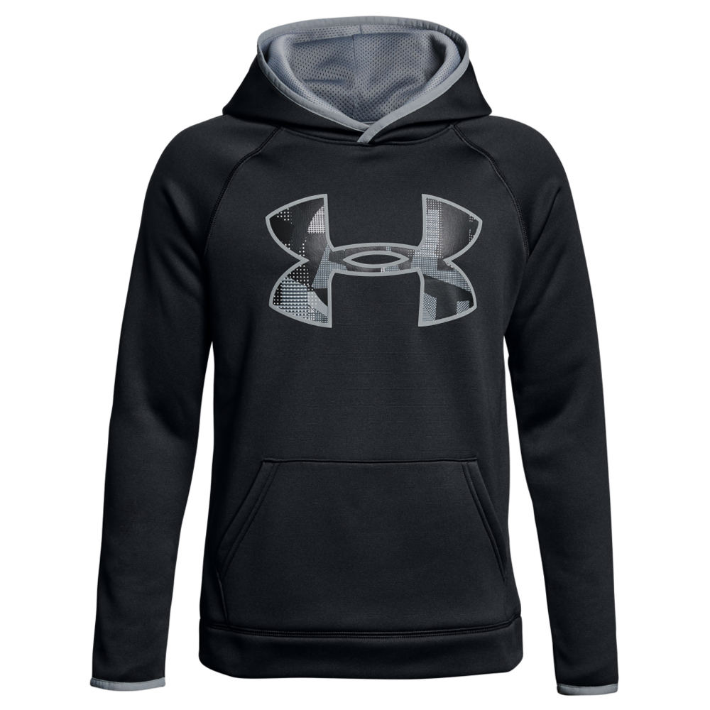 Under Armour Boys' AF Big Logo Hoodie Black Jackets S 825954BLKS