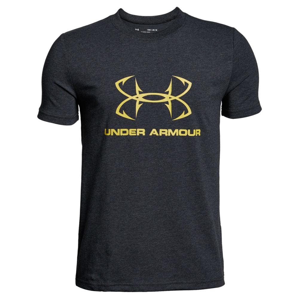 Under Armour Boys' Hook Logo Sportstyle Tee Black Knit Tops S 825960BLHS