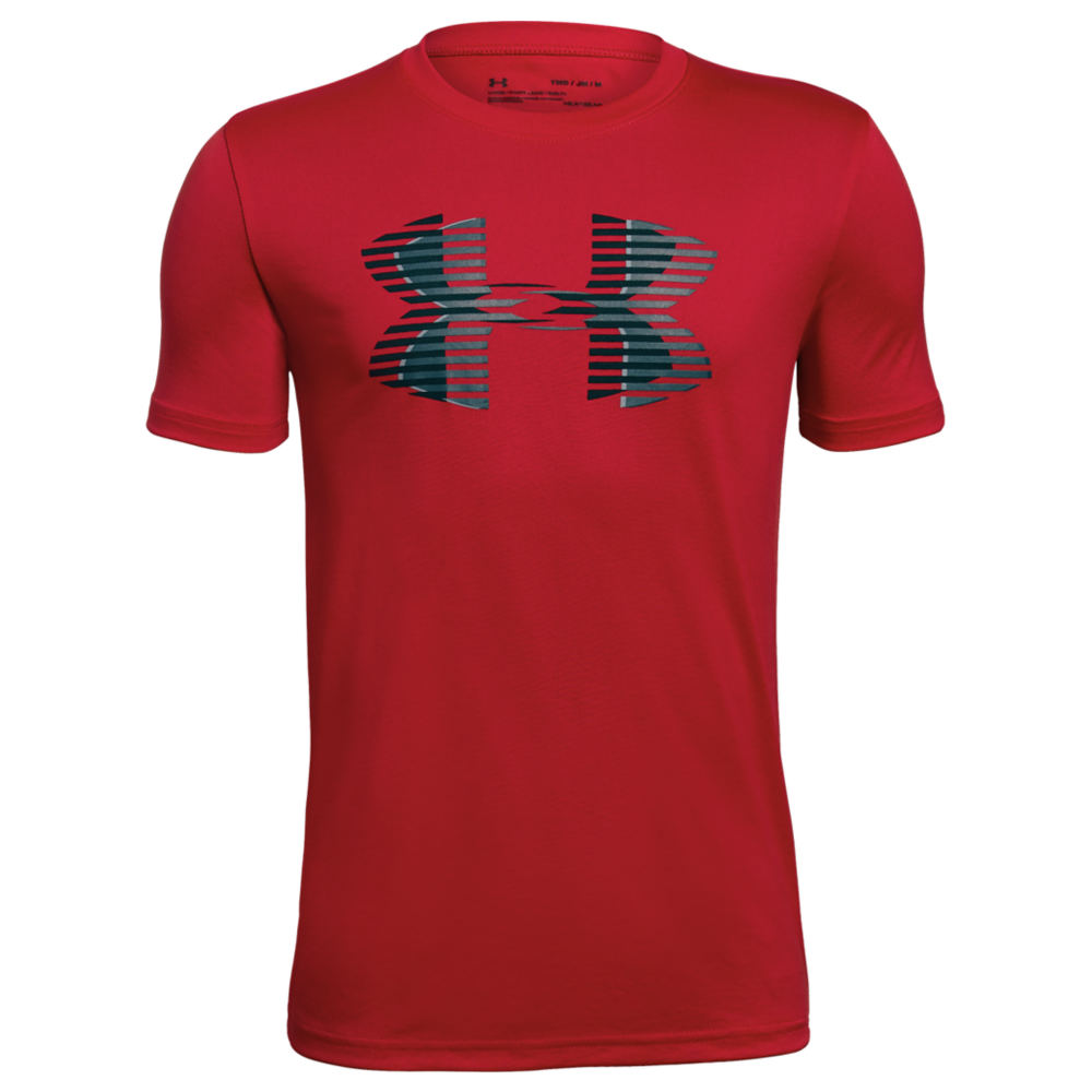 Under Armour Boys' Tech Big Logo Solid Tee Red Knit Tops L 825964REDL