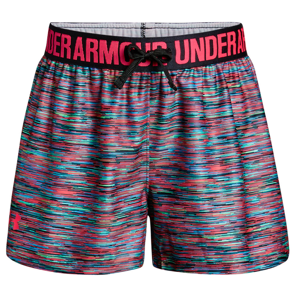 Under Armour Girls' UA Play Up Printed Short Black Shorts S 825966BLKS