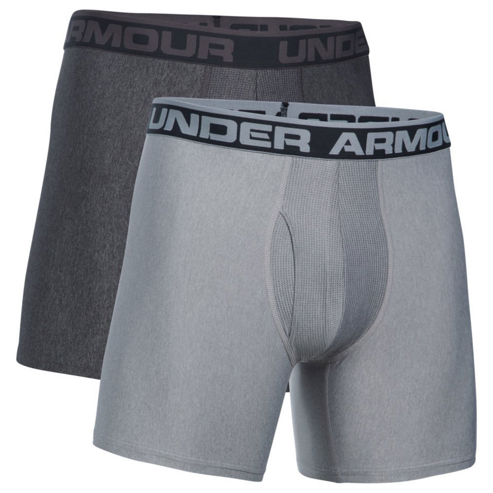Under Armour Men's O-Series Boxerjock 2-Pack Grey Underwear XXL 713128CBN2XL