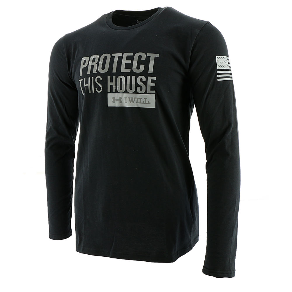 Under Armour Men's UA Freedom Protect This House LS Tee Black Knit Tops M 713142BLKM