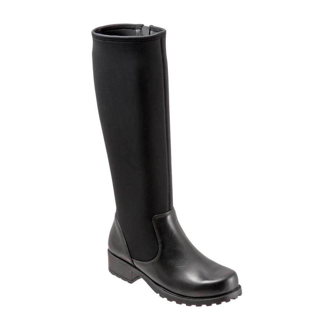 SoftWalk Biloxi Wide Shaft Women's Black Boot 10 W