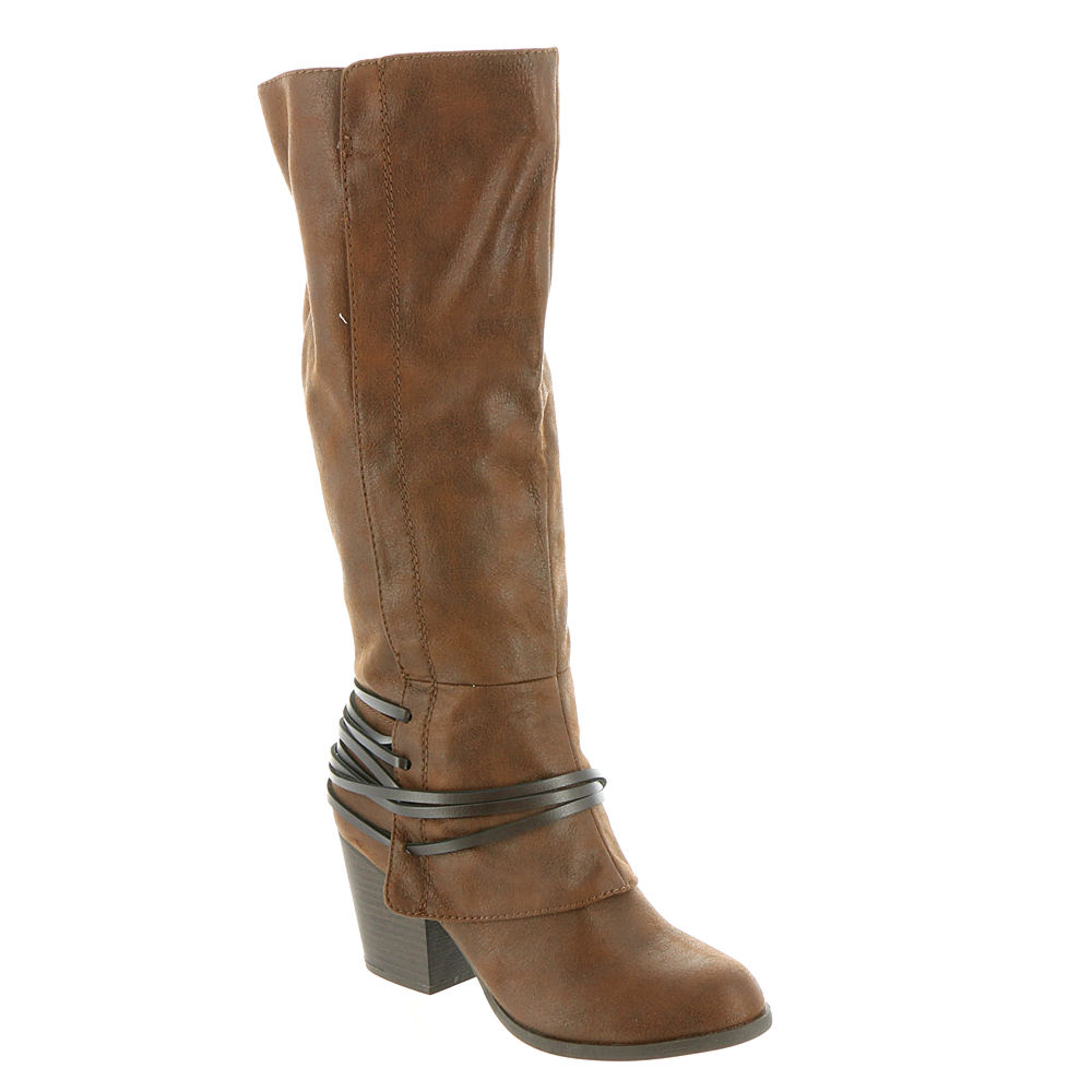 Fergalicious Lexis Wide Calf Women's Brown Boot 6 M