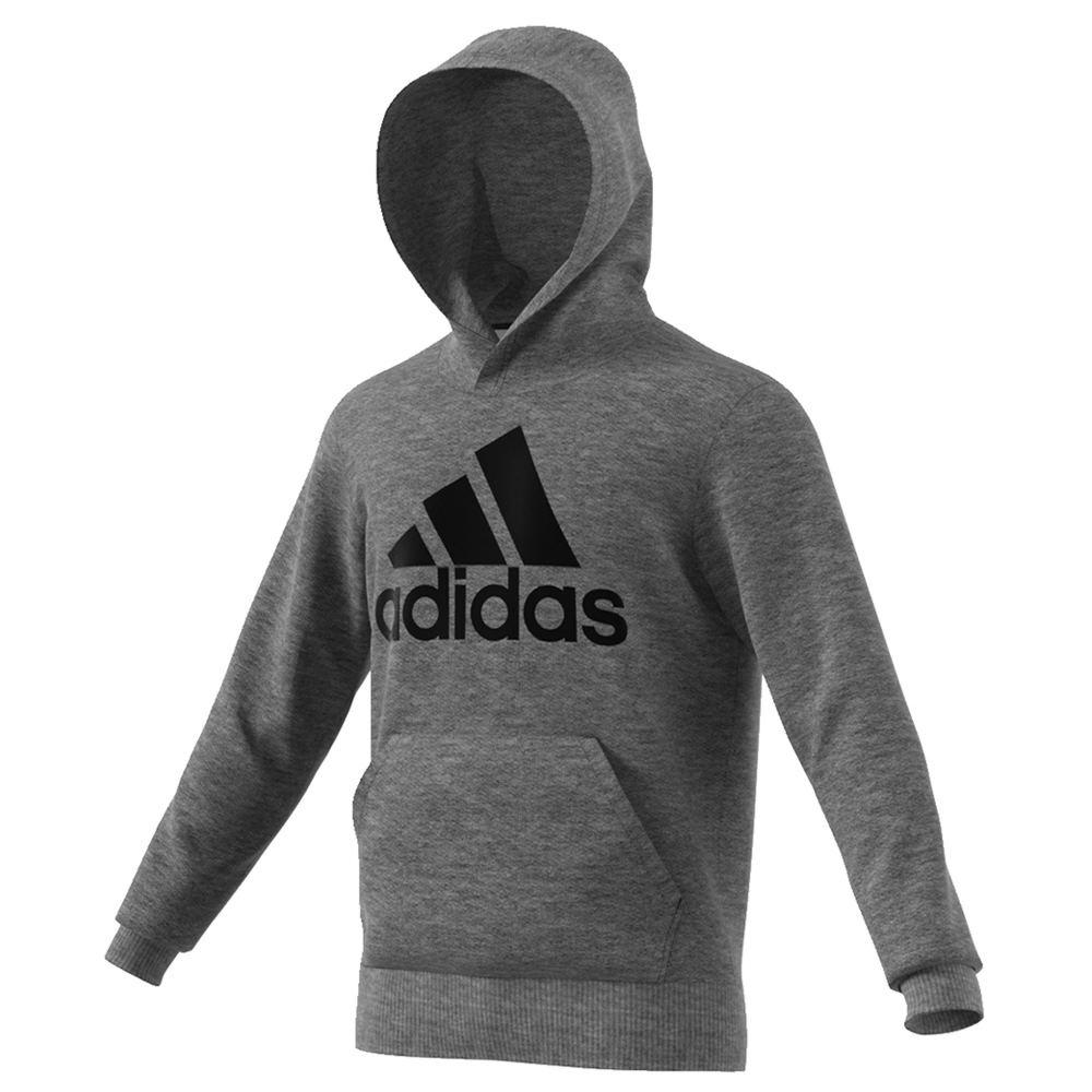adidas Men's Essentials Linear Pullover Hoodie Grey Knit Tops L 713186DHGL
