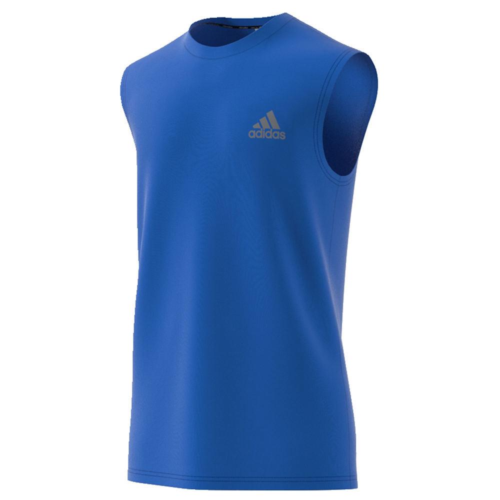 adidas Men's Essentials Tech Sleeveless Tee Blue Knit Tops XXL 713188BLU2XL
