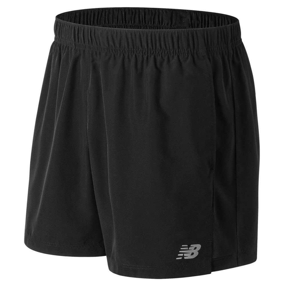 "New Balance Men's Accelerate 5"" Shorts Black Shorts XL 713230BLKXL"